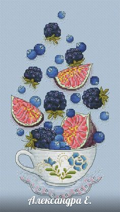 18 Stitching Pins you might like Cross Stitch Fruit, Cross Stitch Kitchen, Cross Stitch Love, Cross Stitch Flowers, Cross Stitch Designs, Cross Stitch Patterns, Cross Stitching, Cross Stitch Embroidery, Embroidery Patterns