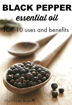 Black Pepper essential oil is rich in antioxidants, aids digestion, and can be helpful to individuals who are quitting smoking! Read more about this oil! http://thepaleomama.com/2015/04/black-pepper-essential-oil/