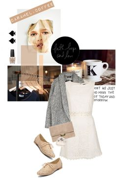 """Neutral"" by pearlsandstars ❤ liked on Polyvore"