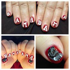 Bama Nails Nail Art Nailart Alabama
