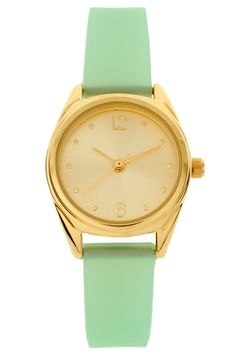 mint green pastel watch Mint Watch, Gold Watch, Mint Gold, Mint Green, 34cdb4aead
