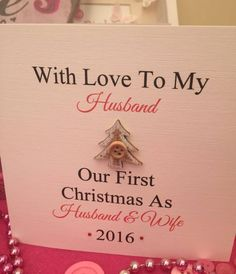 Personalised Christmas Card First Christmas Husband And Wife Couple