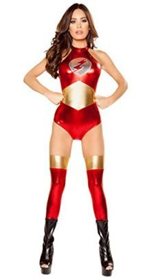 LOSTSS Womens PU Leather Wonder Woman Costume Cosplay Superhero Costume I want to be wonder woman for halloween she is incredible! #DCcomics #wonderwoman #halloween #halloween2017 #superhero