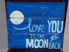 Glow in the dark moon-Home Décor  Shop Here: http://www.bathwicks.com