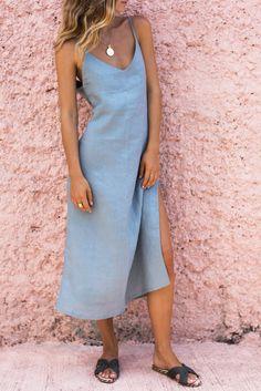 BERNADETTE DRESS - SEAGRASS – posse-store