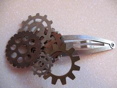 Steampunk Gear Metal Hair Clip