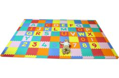 Create a large area with these mats, for younger children to play on! Have toys for younger children as well.