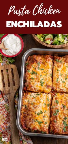 Enjoy a delicious Mexican Night with this Low Syn Pasta Chicken Enchiladas - a perfect meal for the entire family. Casserole Recipes, Meat Recipes, Mexican Food Recipes, Pasta Recipes, Chicken Recipes, Dinner Recipes, Cooking Recipes, Healthy Recipes, Ethnic Recipes