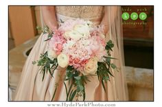 Madeline's bridal bouquet was full of lush pink and white flowers- the perfect accompaniment to her ivory wedding gown! Photo by @hydeparkphoto. Venue: Hotel Granduca. See more wedding floral and ideas at http://www.hydeparkphoto.com/hotel-granduca-wedding-austin-texas/ ||  Austin weddings, Austin wedding photographers, Texas wedding photographers, wedding ideas, Austin wedding venues, Austin wedding venues outdoors, Hotel Granduca Austin, destination wedding photographers, Hyde Park Photog