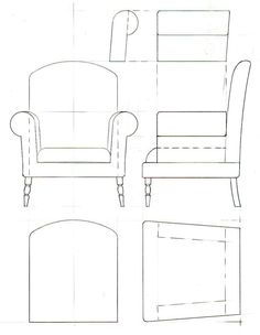 кресло рисунок