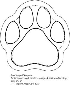 dog templates printable | Click Here to Download Paw Shaped Template