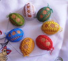 Archiv alb Easter Crochet, Knit Crochet, Egg Tree, Egg Decorating, Happy Easter, Easter Eggs, Crochet Earrings, Christmas Ornaments, Knitting