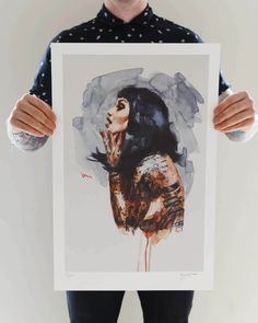 Limited Edition 'RAVEN' Lithograph Print Lithographically Printed Limited Edition Print on a high grade paper with a. Print Store, Limited Edition Prints, All Print, Artsy Fartsy, Raven, Portrait, Illustration, Painting, Image