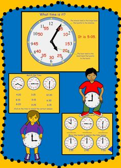 Teaching Tips, Learning Resources, Kids Learning, What Time Is, Second Grade Math, Telling Time, Interactive Notebooks, Math Lessons, Teacher Pay Teachers