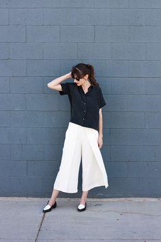 Culottes, Silk Shirt