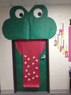 My frog themed class door!!