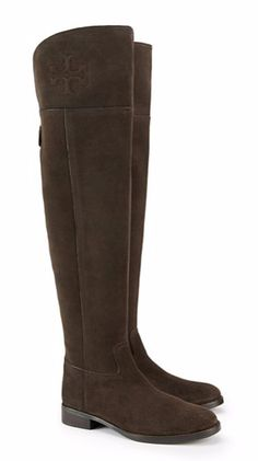 925c4473ce9 Tory Burch Boots Leather OVER The Knee Simone Riding 35 mm TB Logo ...