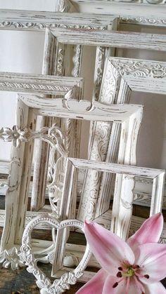Antique White Picture Frame Set Of 10 Open por SeaLoveAndSalt