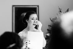 Emotional wedding photography bridesmaid delivers wedding speech at Pembroke Lodge Surrey wedding © Fiona Kelly Photography