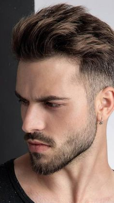 Beard Styles For Men, Hair And Beard Styles, Curly Hair Styles, Style For Men, Men Hair Cuts, Short Beard Styles, Goatee Styles, Young Mens Hairstyles, Brad Pitt Hairstyles