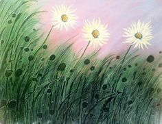 Daisies in Grass by Faye Giblin | Artgallery.co.uk