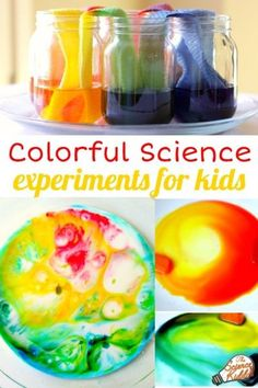 Use loads of food coloring to create colorful art while learning basic science principles. The kids will doing these kitchen science experiments as they use everything from a plate of milk to ice cubes as their canvas.