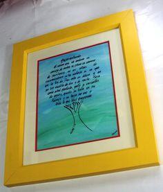 caligrafia a mano Pintura acrilica