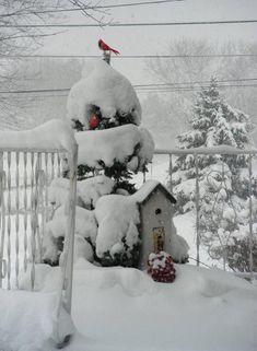 outdoor winter decor