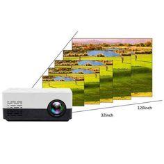ORIGINAL PORTABLE PROJECTOR – Mostgoodies Small Projector, Portable Projector, Outdoor Projector, Movie Projector, Entertainment System, Mini Projektor, Netflix, Backyard Movie Nights, Usb