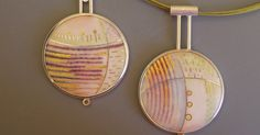 """First Snow Series - """"over field and furrow"""" Enamel on copper with gold and silver cloisonne  wire & gold foil / Set into silver  Urban Nigh..."""