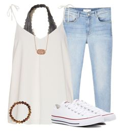 """Untitled"" by briellegk ❤ liked on Polyvore featuring Hollister Co., MANGO, Converse, Kendra Scott and Sydney Evan"