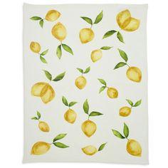 Lemon Printed Linen Kitchen Towel; $9.95 Sur La Table