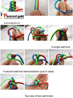 how to tie a wall knot