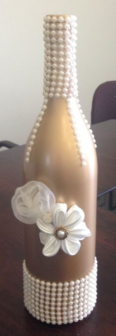 Şişe süsleme #decoratedwinebottles