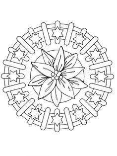 Mandala Christmas Ornaments Coloring Sheets - Picture 40