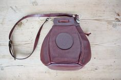 Authentic  Cartier  Grained Leather Burgundy by JeannetteVintage
