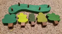 Wooden tree forest by SensoryPlay on Etsy