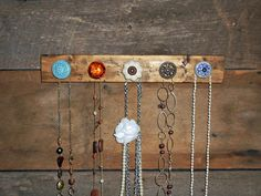 Necklace Holder with Knobs  Spring Colors by TheBarnOwlBoutique, $30.00