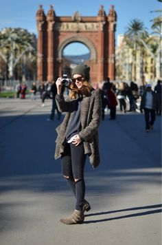 From Paris to London — how we'd all really dress abroad: black pants or leggings with slouchy sweaters