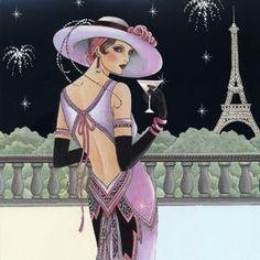 Trendy Ideas For Art Deco Fashion Illustration Paris Art Deco Posters, Vintage Posters, Vintage Art, Arte Fashion, Art Deco Fashion, High Fashion, Art Nouveau, Belle Epoque, Vestido Art Deco