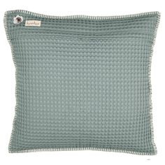 One of our bestsellers. Waffle cushion cover Oslo 50x50 cm | Koeka webshop (sapphire)