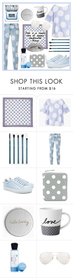 """""""Feelin' Blue and Grey"""" by kanares ❤ liked on Polyvore featuring Valentino, MANGO, Ashley Stewart, STELLA McCARTNEY, Givenchy, Comme des Garçons, Katie Loxton, Royal Doulton, Moschino and Supergoop!"""