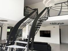 Escalier design Graphique, dessiné et mis en forme par Jean Luc Chevallier pour La Stylique.