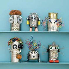 Robot con latas