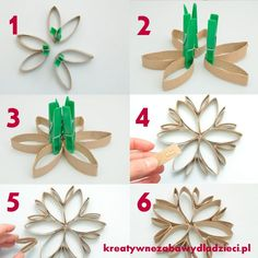 Star-of-rollers-the-toilet-paper-roll-star-tp-roll-ornaments-scenery-with-rollers . - Star-of-rollers-the-toilet-paper-roll-star-tp-roll-ornaments decorations-of-the-roll-paper - Toilet Roll Craft, Toilet Paper Roll Art, Toilet Paper Roll Crafts, Christmas Ornament Crafts, Snowflake Ornaments, Holiday Crafts, Christmas Crafts, Paper Towel Roll Crafts, Paper Towel Rolls