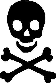 skull stencil   Skull and Crossbones Stencil Girly
