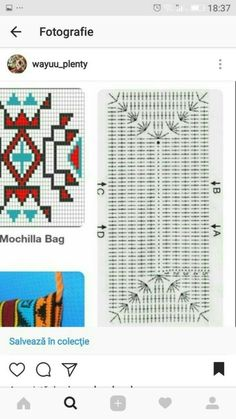 뜨개와수다의 만남   BAND Crochet Clutch, Crochet Handbags, Crochet Purses, Tapestry Crochet Patterns, Crochet Motif, Crochet Stitches, Cute Crochet, Beautiful Crochet, 0 Bag