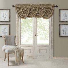 Elrene Home Fashions All Seasons Blackout Waterfall Valance, 52 x 36 Sheer Valances, Pleated Curtains, Long Curtains, Rod Pocket Curtains, Grommet Curtains, Valance Curtains, Curtain Panels, Gazebo Curtains, Wood Valance