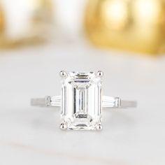Baguette Engagement Ring, Baguette Diamond Rings, Engagement Rings Cushion, Engagement Ring Shapes, Classic Engagement Rings, Round Diamond Engagement Rings, Three Stone Engagement Rings, Emerald Diamond Rings, Sapphire Rings