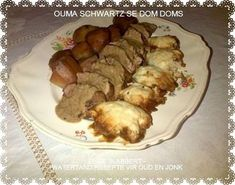 Dom Doms (kluitjies) Bar Food, Afrikaans, Tart, Sausage, Biscuits, Side Dishes, Muffins, Sweets, Baking